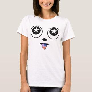 De T-shirt van Emoji van de Ogen van de ster