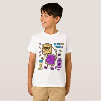 De T-shirt van Emoji van de Pindakaas BFF & van de