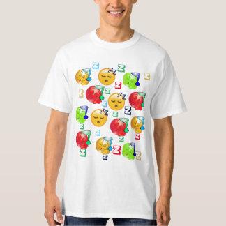 De T-shirt van Emoji van de slaap