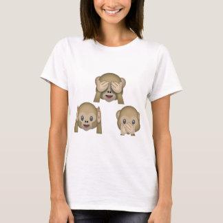 De T-shirt van Emoji van drie Aap
