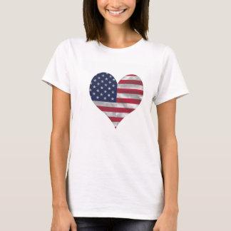 De T-shirt van Hanes van de Vrouwen van de Vlag