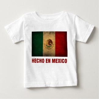 De T-shirt van het baby - de Engelse Mexico Vlag