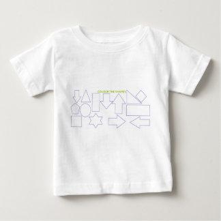 """De T-shirt van het Baby """"kleur van de Vormen"""""""