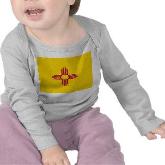 De T-shirt van het baby met Vlag van New Mexico