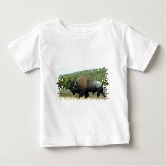 De T-shirt van het Baby van de bizon