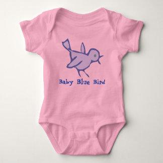 """De T-shirt van het Baby van de BLAUWE """"VOGEL van"""