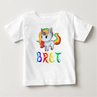 De T-shirt van het Baby van de Eenhoorn van Bret