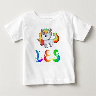 De T-shirt van het Baby van de Eenhoorn van Les