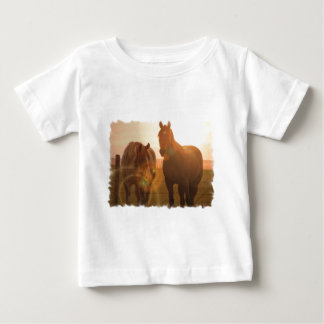 De T-shirt van het Baby van de Paarden van de
