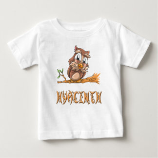 De T-shirt van het Baby van de Uil van de hyacint