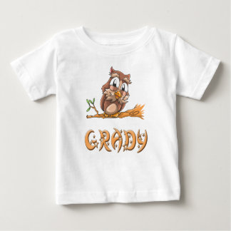 De T-shirt van het Baby van de Uil van Grady