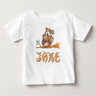 De T-shirt van het Baby van de Uil van Jake