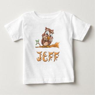 De T-shirt van het Baby van de Uil van Jeff