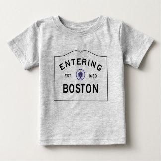 De T-shirt van het Baby van de Verkeersteken van