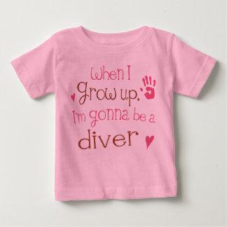 De T-shirt van het Baby van het Baby van de duiker