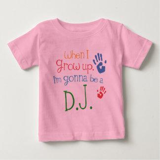 De T-shirt van het Baby van het Baby van DJ