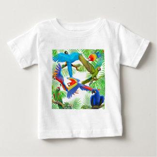 De T-shirt van het Baby van het Oerwoud van de ara