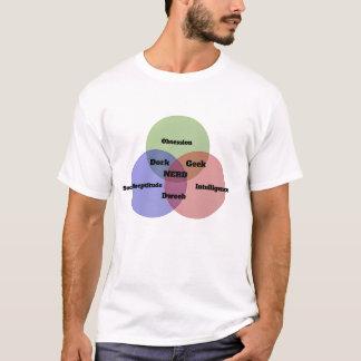 De T-shirt van het Diagram van Nerd Venn van Nerdy