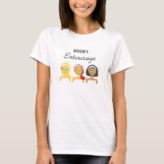 De T-shirt van het Gevolg van de Bruid van het
