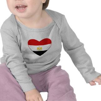 De T-shirt van het Hart van de Vlag van Egypte