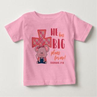 De T-shirt van het kind, heeft hij Grote Plannen