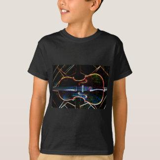 De T-shirt van het Kind van de Cello van het neon