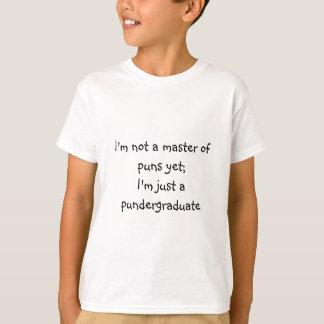 De t-shirt van het kind van woordspelingen