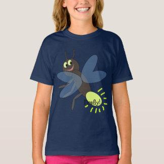 De T-shirt van het leuke Kind van de Glimworm van