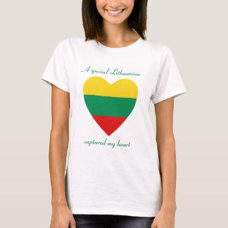 De T-shirt van het Liefje van de Vlag van Litouwen