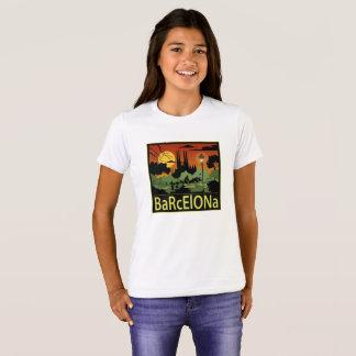 De T-shirt van het Meisje van Barcelona