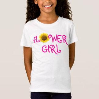 De T-shirt van het Meisje van de Bloem van de