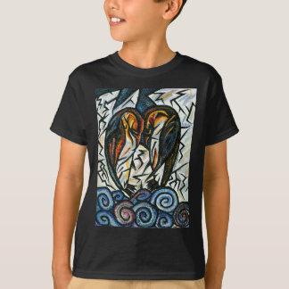 De T-shirt van het Paar van de Pinguïn van het