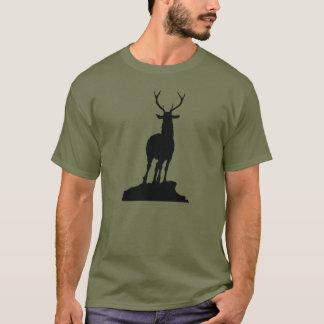 De T-shirt van het Silhouet van herten
