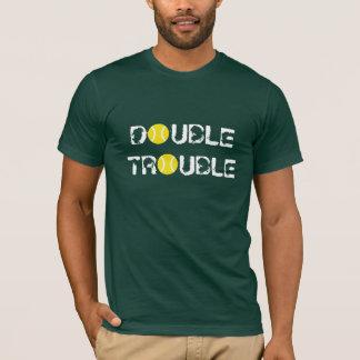 De t-shirt van het tennis voor dubbelenspelers |