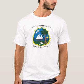 De T-shirt van het Wapenschild van Liberia