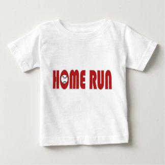 De T-shirt van Homerun van het honkbal (Baby)