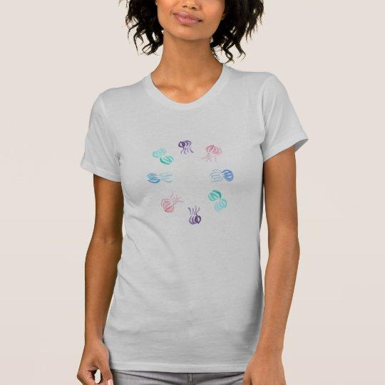 De T-shirt van Jersey van de Vrouwen van kwallen