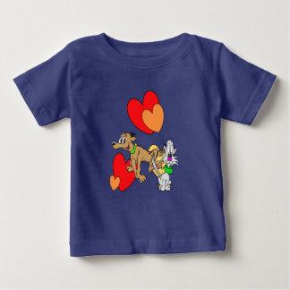 De T-shirt van Jersey van het Baby van de Cartoon