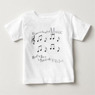 De T-shirt van Jersey van het Baby van de gift