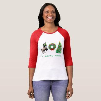 """""""de T-shirt van Kerstmis met 8 bits""""/Kleding Misc"""