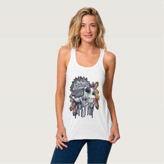 De T-shirt van Mandala van de Schedel van het