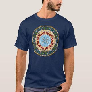 De T-shirt van Mandala van de Staat van Maine
