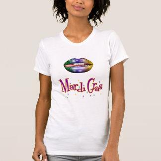 De t-shirt van Mardi Gras van vrouwen met Lippen