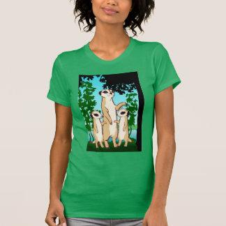 De T-shirt van Meerkat, de gang van de Familie