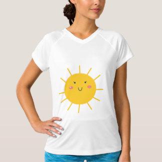 De t-shirt van ontwerpers met Gele zon