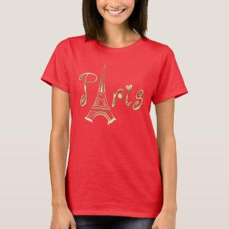 De T-shirt van PARIJS met de Toren van Eiffel