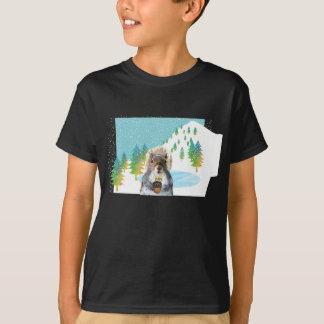De T-shirt van Snowboarder van de eekhoorn