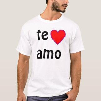 """De t-shirt van """"Te amo"""""""