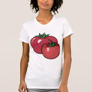 De T-shirt van twee Rode Vrouwen van Tomaten
