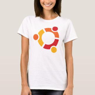 De T-shirt van Ubuntu van de dame